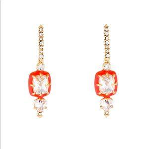 Alexis Bittar Crystal and Enamel Drop Earrings
